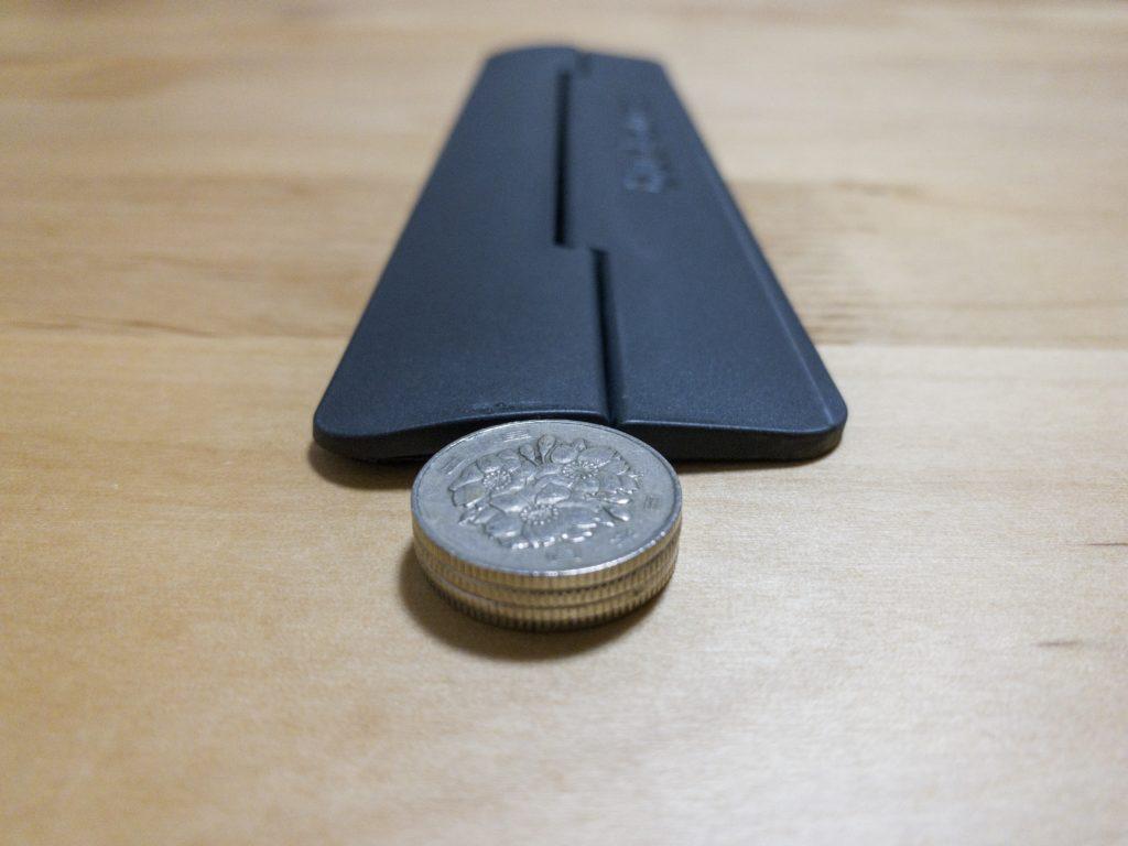 kickflipの厚さは百円玉4枚分