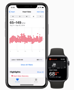 AppleWatch心拍数測定