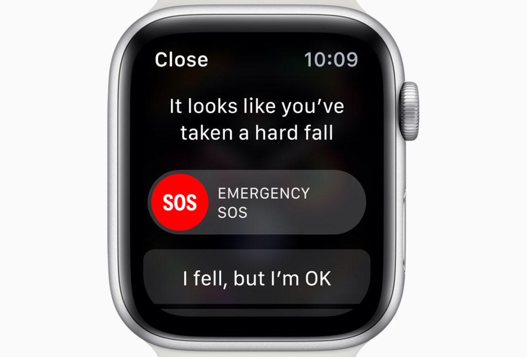 AppleWatch転倒検出機能