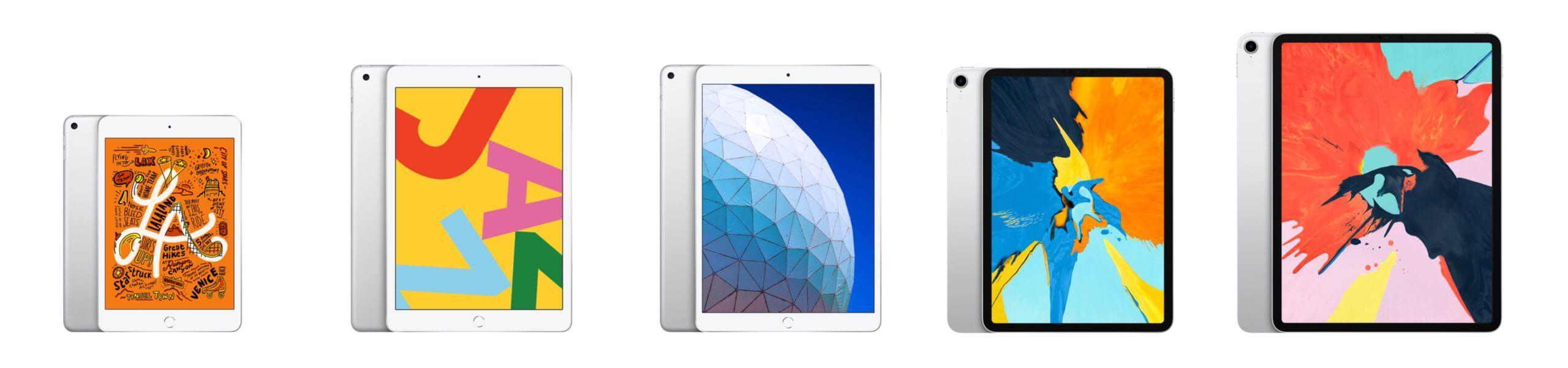 iPad全サイズ比較