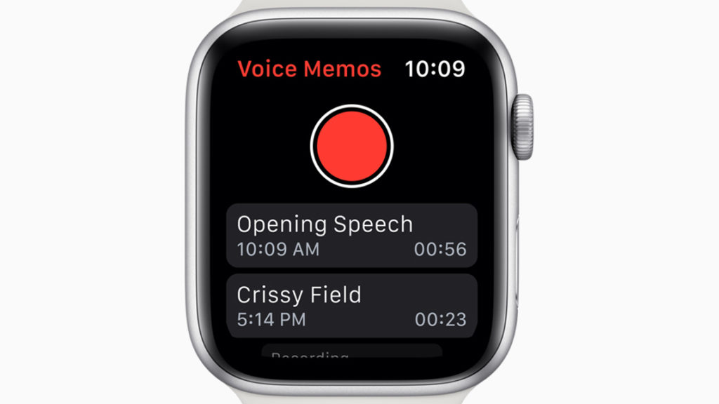 AppleWatchボイスメモ