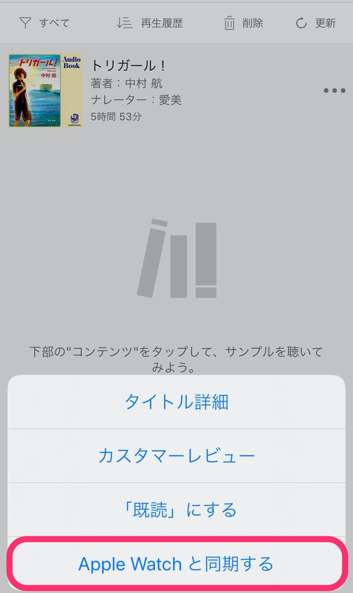 Audible同期