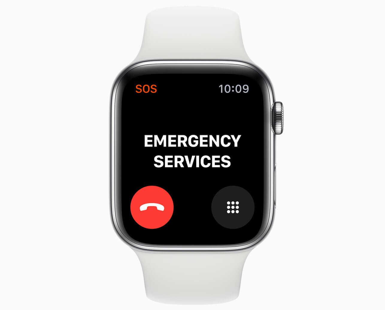 Apple watch series 5 sos call emergency services screen 091019