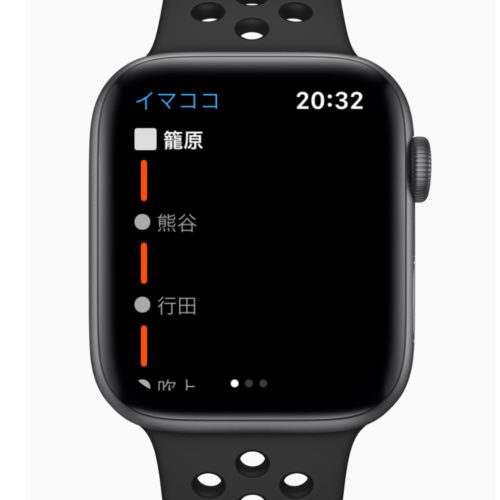 AppleWatchで今どこを走っているのか確認できる イマココ