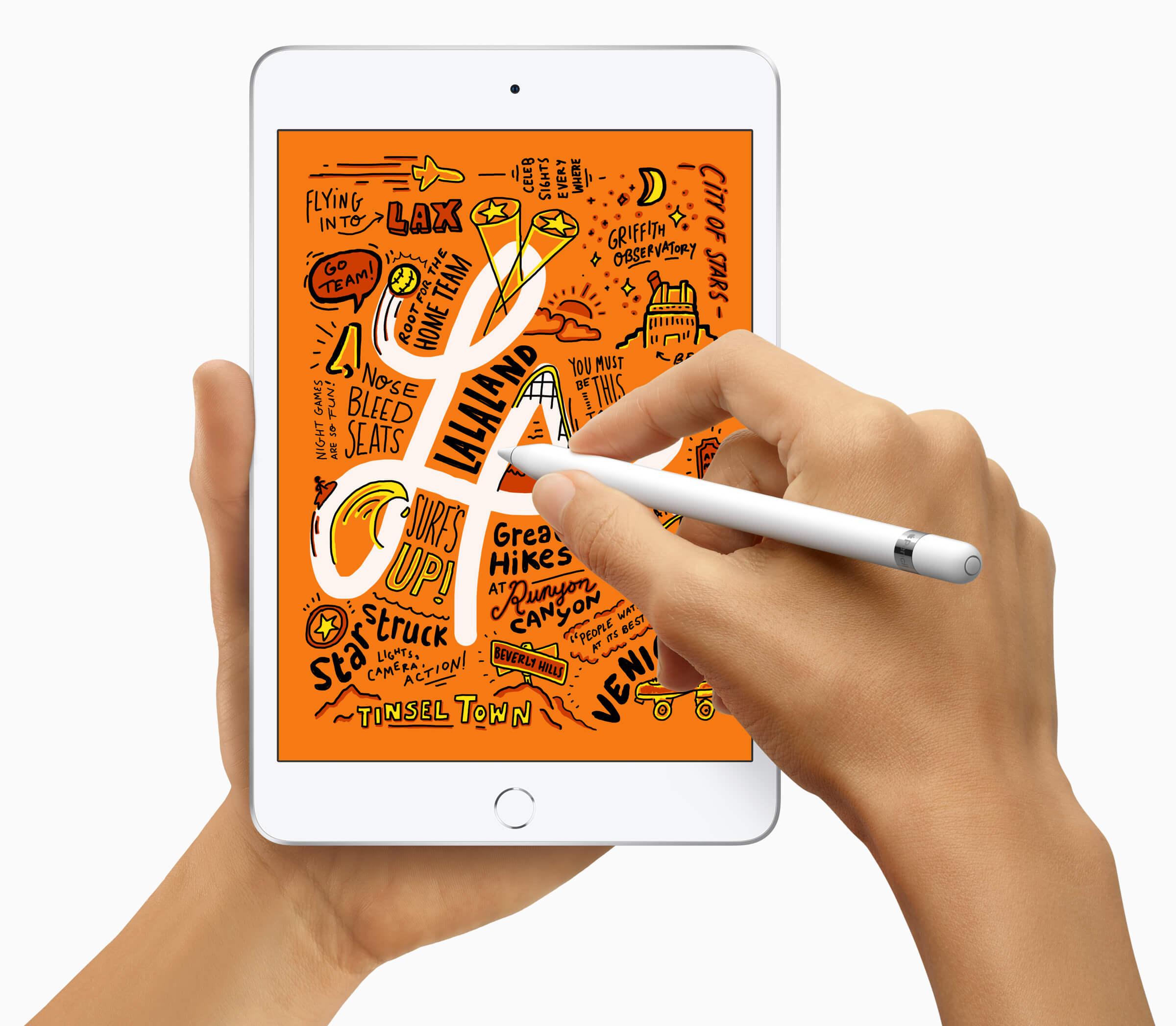 iPad mini片手持ち