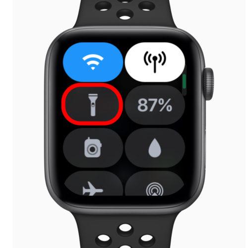 Apple Watch コントロールセンター