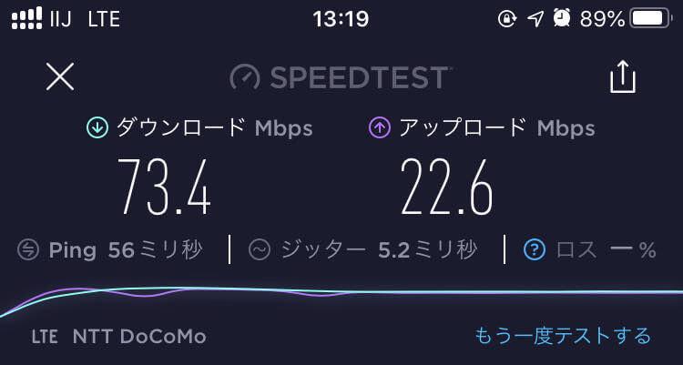 IIJmio速度