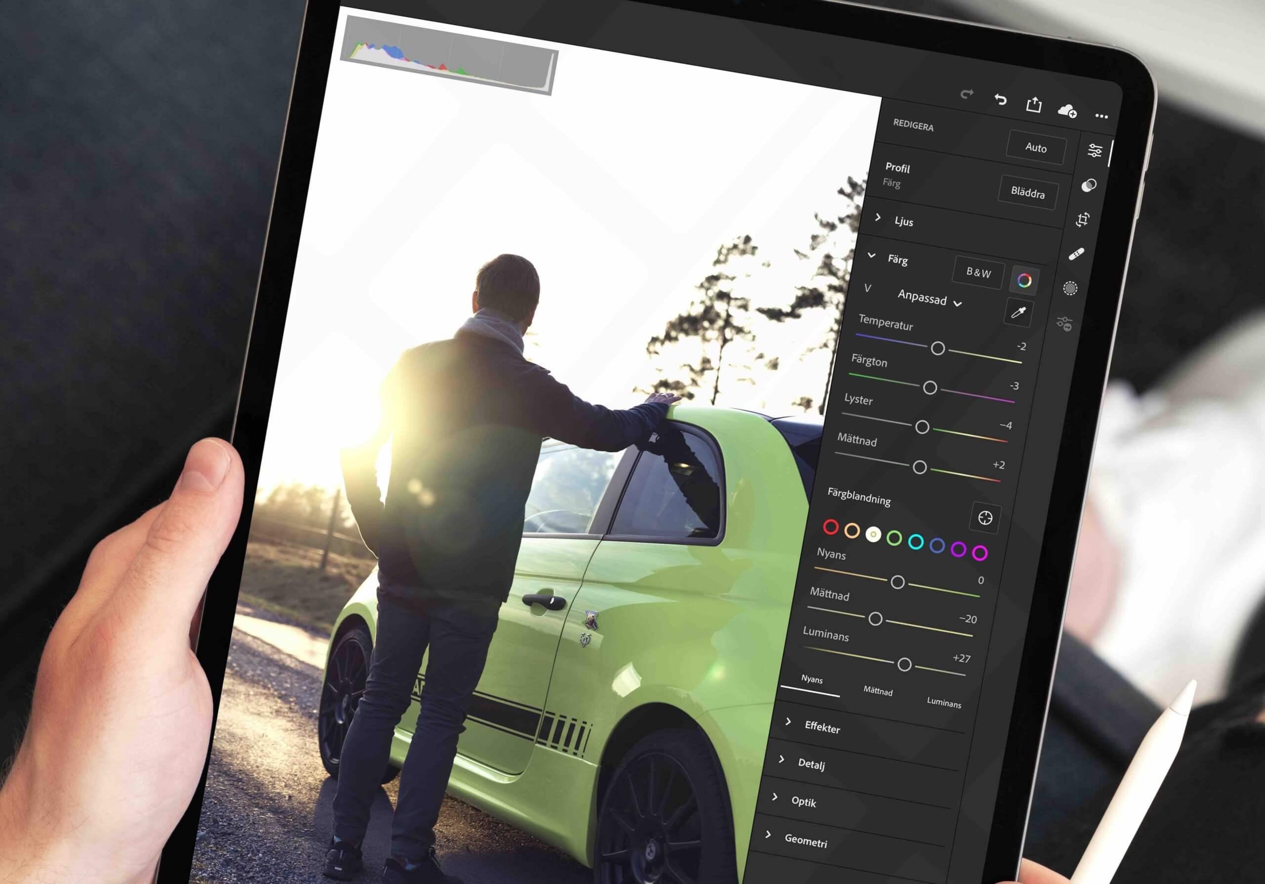 iPadで写真編集