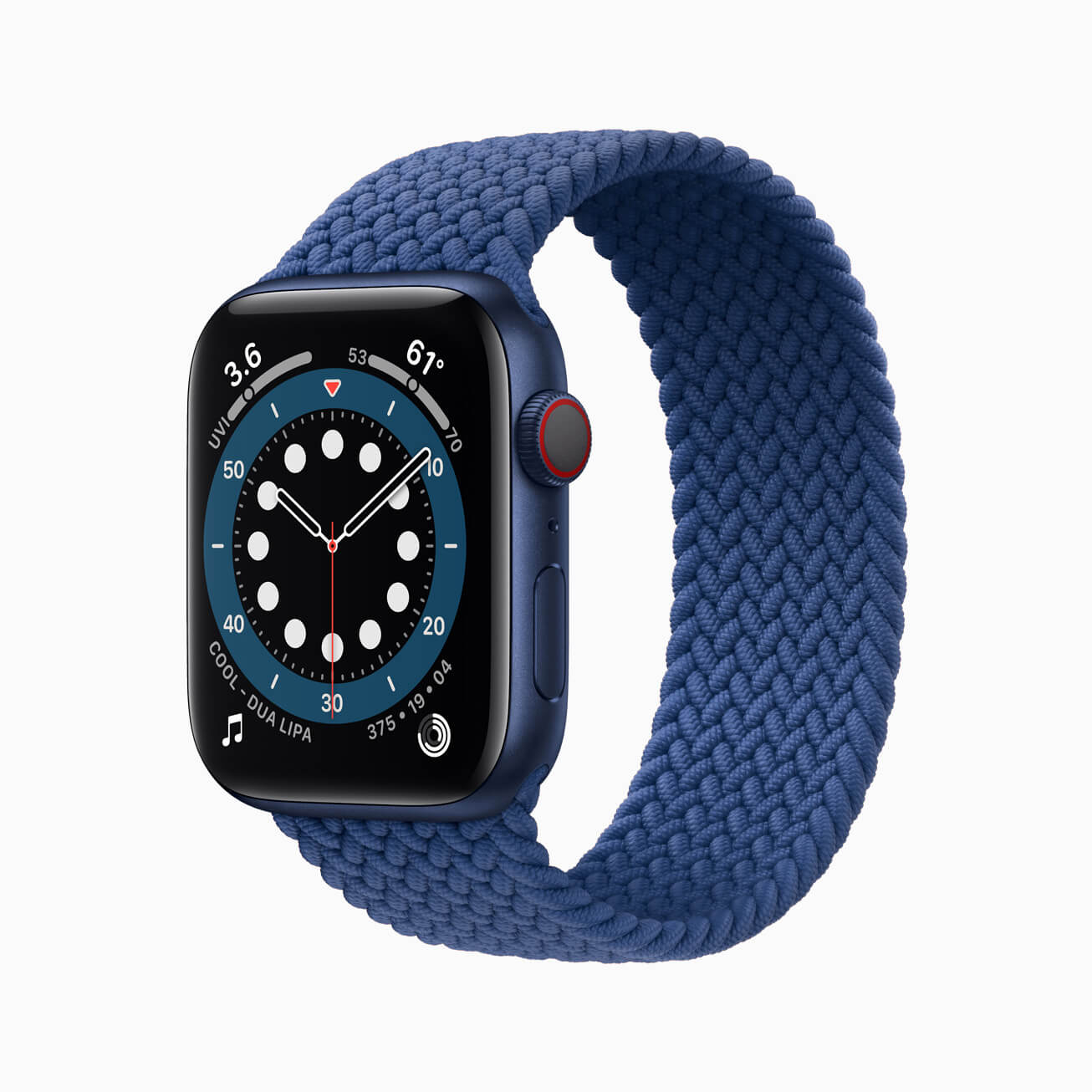 Apple watch series 6 aluminum blue case 09152020