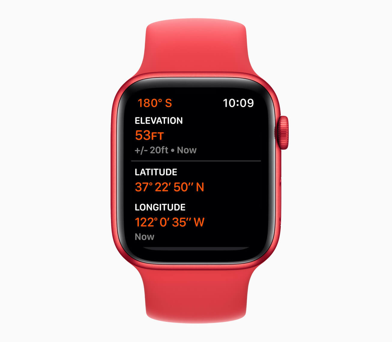 Apple watch series 6 aluminum red case altimeter 09152020